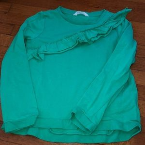 Other - HM girls kelly green ruffle sweater
